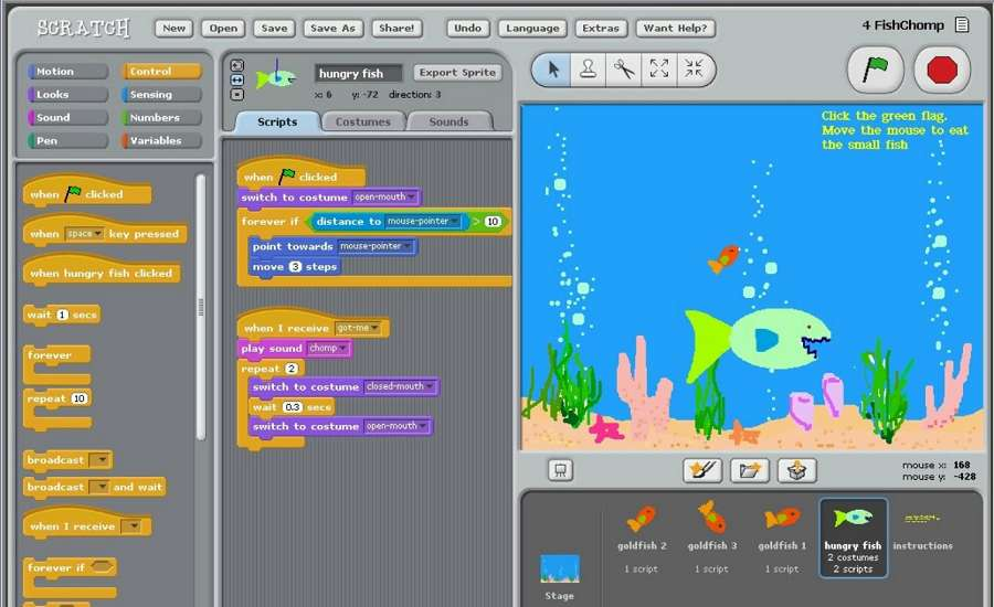 Coding in Scratch